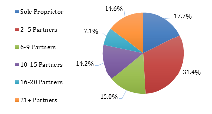 CPA Firm Responses by # of Partners