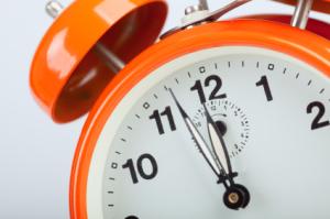 Orange Clock Graphic